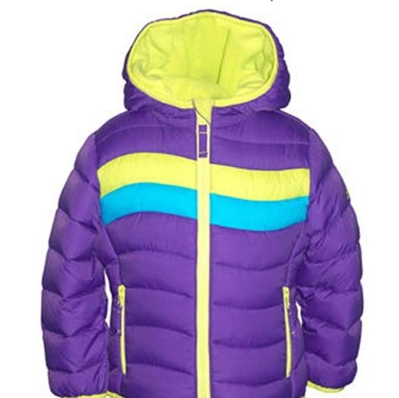 Snozu Toddler Girls Winter Coat 2T Ultra Clean Down Blue
